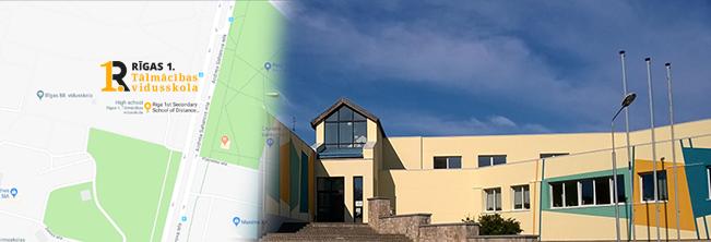 Rīgas 1. Tālmācības vidusskola address: A. Saharova 35 - 315, Riga. Vidējā izglītība un pamatizglītība internetā
